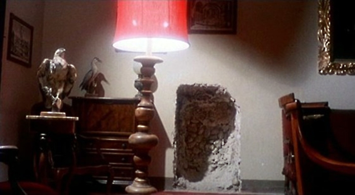 """REALLY ADDS A NICE """"CASK OF AMONTILLADO"""" VIBE TO THE DECOR, DOESN'T IT?"""